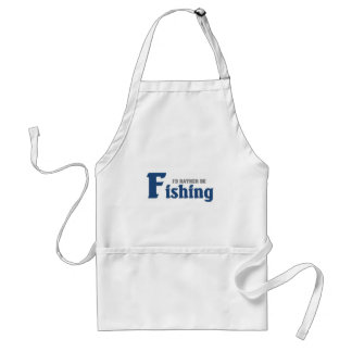 Rather be fishing standard apron