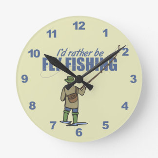 Rather Be Fly Fishing Clock