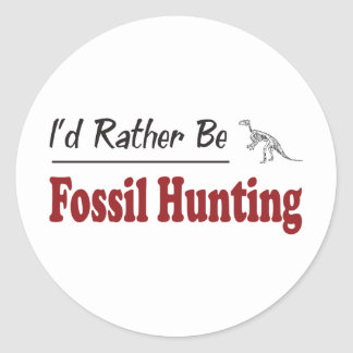 Rather Be Fossil Hunting Round Sticker