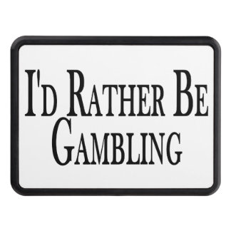 Rather Be Gambling Trailer Hitch Cover