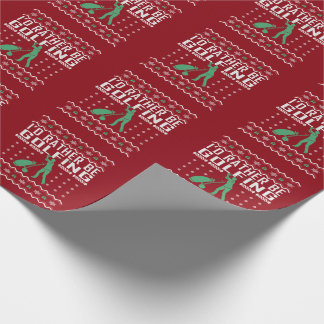 Rather Be Golfing Ugly Christmas Sweater Wrapping Paper