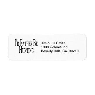 Rather Be Hunting Return Address Label