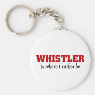 Rather be in Whistler Basic Round Button Keychain