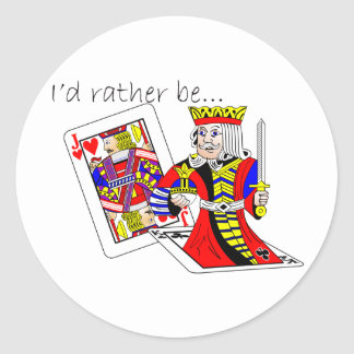 Rather-Be-Jack-King-Off-Card Classic Round Sticker