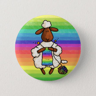 rather be knitting 2 inch round button