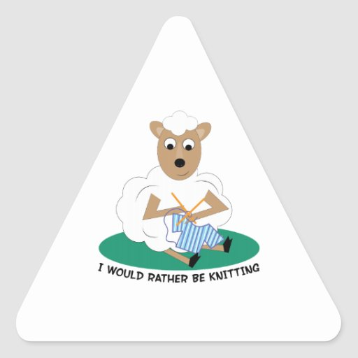 Rather Be Knitting Triangle Stickers
