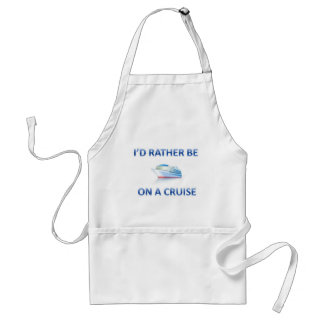 Rather be on a cruise standard apron