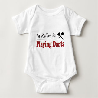 Rather Be Playing Darts Baby Bodysuit