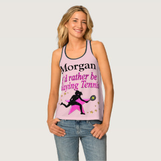 RATHER BE PLAYING TENNIS PERSONALIZED PINK TOP