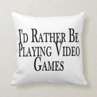Rather Be Playing Video Games Throw Pillow