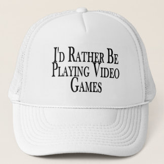 Rather Be Playing Video Games Trucker Hat