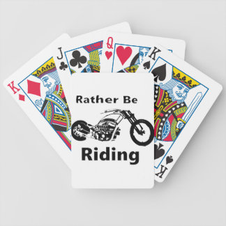 Rather Be Riding Bicycle Playing Cards