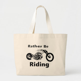 Rather Be Riding Large Tote Bag