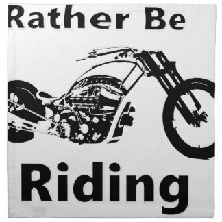Rather Be Riding Napkin