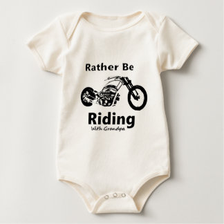 Rather Be Riding w grandpa Baby Bodysuit