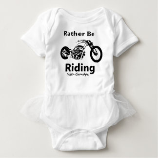 Rather Be Riding w grandpa Baby Bodysuit