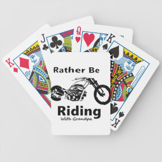 Rather Be Riding w grandpa Bicycle Playing Cards