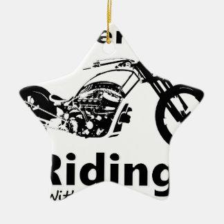 Rather Be Riding w grandpa Ceramic Ornament