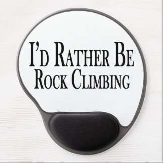 Rather Be Rock Climbing Gel Mouse Pad