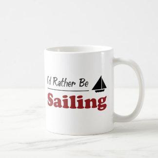 Rather Be Sailing Coffee Mugs