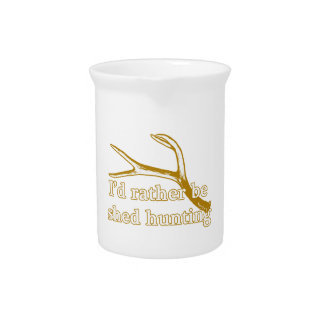 Rather be shed hunting beverage pitcher