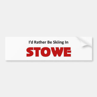 Rather be skiing in stowe bumper sticker