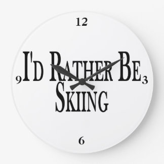 Rather Be Skiing Large Clock