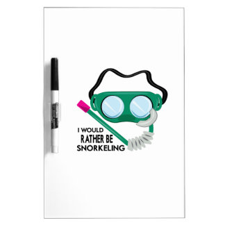 Rather Be Snorkeling Dry-Erase Boards
