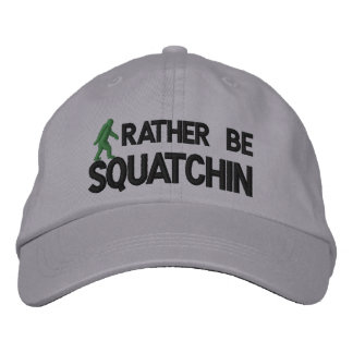Rather be Squatchin Embroidered Baseball Caps
