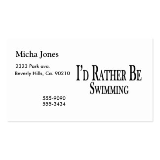 Rather Be Swimming Business Card