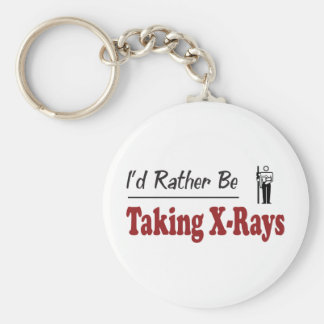Rather Be Taking X-Rays Basic Round Button Keychain