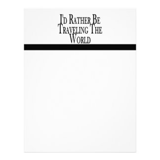 Rather Be Traveling The World Letterhead Template