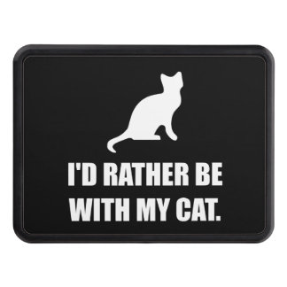 Rather Be With My Cat Trailer Hitch Cover