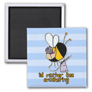 rather bee crocheting magnet