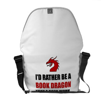 Rather Book Dragon Than Worm Messenger Bags