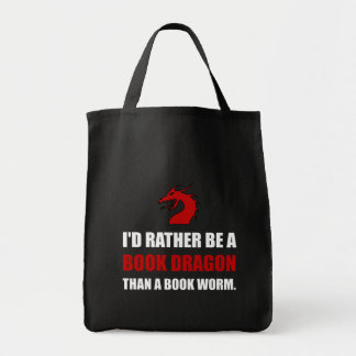 Rather Book Dragon Than Worm Tote Bag