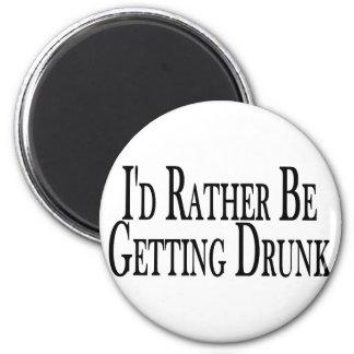 Rather Get Drunk 2 Inch Round Magnet