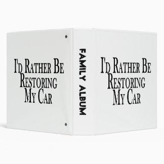 Rather Restore Car 3 Ring Binders