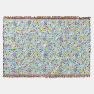 Rats and Mice in Blue Throw Blanket