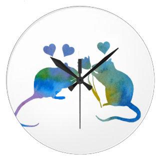 Rats Large Clock