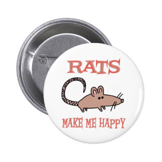 Rats Make Me Happy 2 Inch Round Button