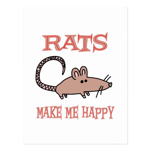Rats Make Me Happy Post Cards
