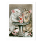 Rats on a Date Postcard