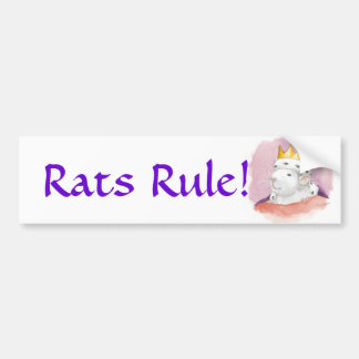 Rats Rule! Bumper Sticker