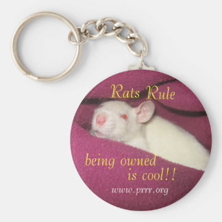 Rats Rule/owned cool Keychain