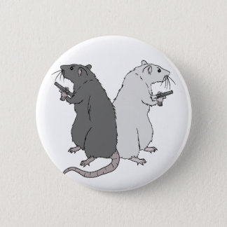 Rats with Gats 2 Inch Round Button