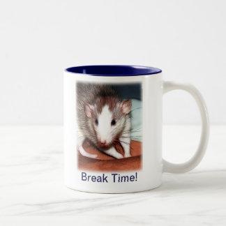 Rattie Mug - Break Time - Blue