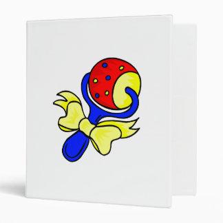 rattle primary colors vinyl binder