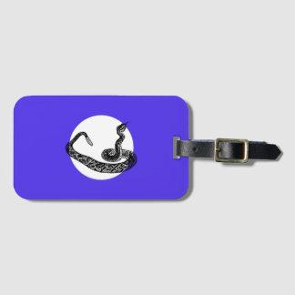 Rattle snake luggage tag