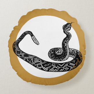 rattle snake round pillow